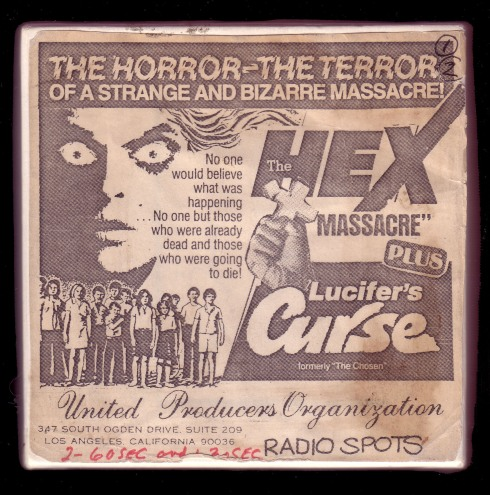 "Audio Oddities Sleeve - Hex Massacre [with] Lucifer's Curse (formerly ""The Chosen"")"