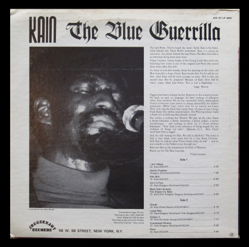 KAIN - Blue Guerrilla (sleeve verso)